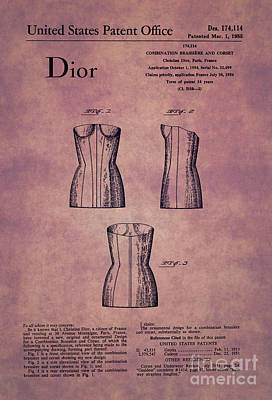 1955 Dior Combo Bra And Corset Design 1 Print by Nishanth Gopinathan