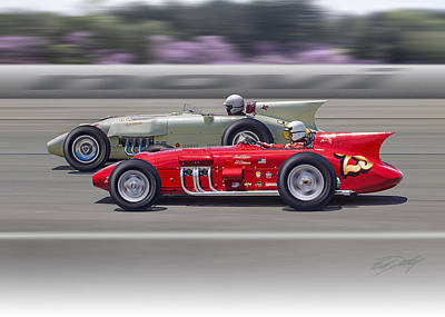 Photograph - 1956-57 Novi Replica Roadsters by Ed Dooley