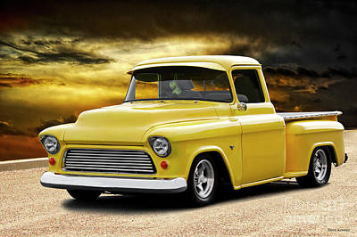 Photograph - 1956 Chevrolet 3100 Stepside Pickup I by Dave Koontz