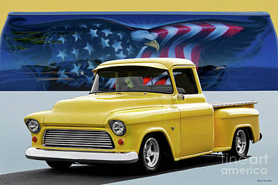 Photograph - 1956 Chevrolet 3100 Stepside Pickup II by Dave Koontz
