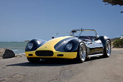 Car Photos Douglas Pittman - 1956 Lister-Cambridge Corvette Roadster by Dave Koontz