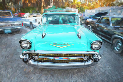 Photograph - 1957 Chevrolet Bel Air 283  by Rich Franco