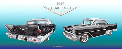 1957 Chevrolet El Morocco Hard Top Original by Jack Pumphrey