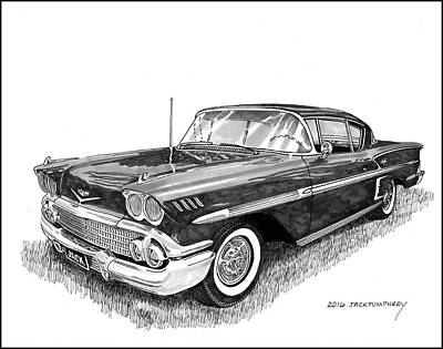 Painting - 1958 Chevrolet Impala by Jack Pumphrey