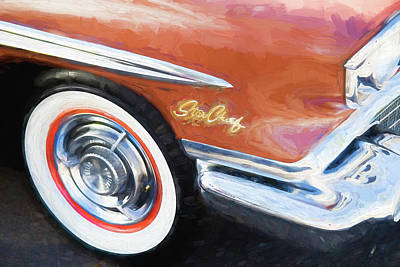 1958 Pontiac Star Chief  Art Print by Rich Franco