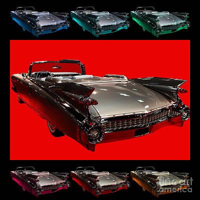 1959 Cadillac Eldorado Convertible . Wing Angle Artwork Print by Wingsdomain Art and Photography