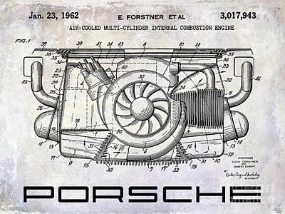 1962 Porsche Engine Patent Art Print