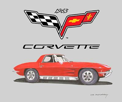 Painting - 1963 Corvette Roadster by Jack Pumphrey