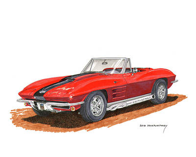 1963 Corvette Stingraw Roadster Art Print