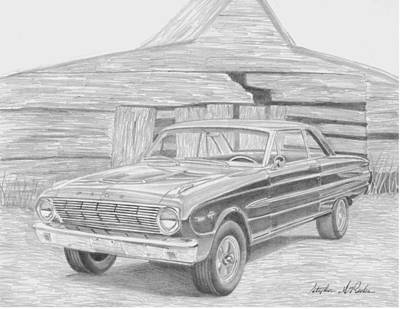 1963 Ford Falcon Classic Car Art Print Print by Stephen Rooks
