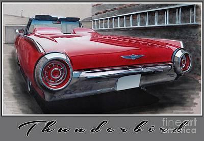 1963 Ford Thunderbird Art Print by Paul Kuras