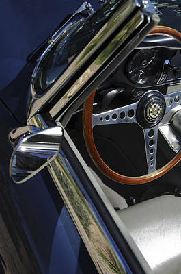 Photograph - 1963 Jaguar Xke Roadster Steering Wheel by Jill Reger