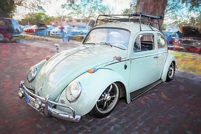 Photograph - 1963 Volkswagen Beetle Vw Bug  by Rich Franco