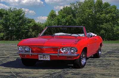 Photograph - 1965 Chevrolet Corvair Convertible by TeeMack