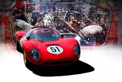 Photograph - 1966 Ferrari Sp206 Replica by Stuart Row