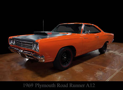 1969 Plymouth Road Runner A12 Art Print