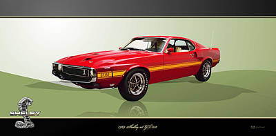 Luxury Cars Wall Art - Photograph - 1969 Shelby V8 Gt350  by Serge Averbukh