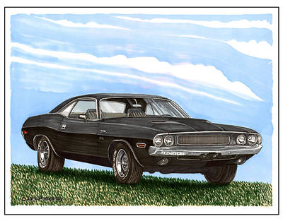 1970 Dodge Challenger Art Print by Jack Pumphrey