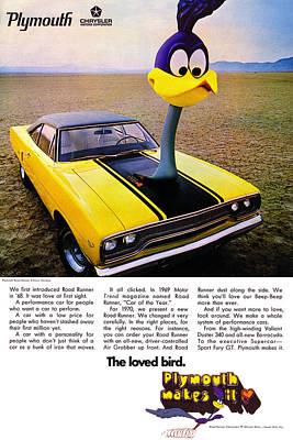 Roadrunner Digital Art - 1970 Plymouth Road Runner by Digital Repro Depot