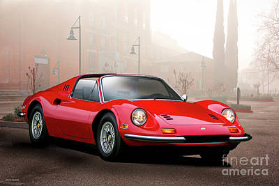 Sports Royalty-Free and Rights-Managed Images - 1973 Ferrari Dino 246 GTS I by Dave Koontz