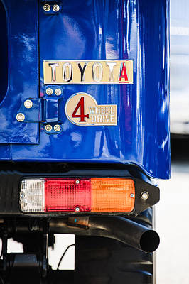 Photograph - 1982 Toyota Fj43 Land Cruiser Rear Emblem -0483c by Jill Reger