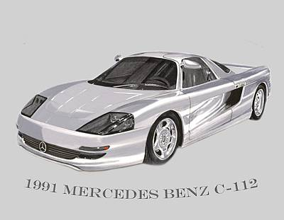 Painting - 1991 Mercedes Benz C 112 by Jack Pumphrey