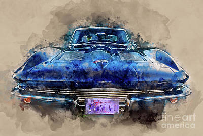 Muscle Car Painting - 2 Fast 4 U by Jon Neidert