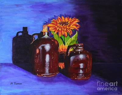Painting - 2 Old Jugs by Melvin Turner