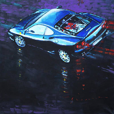 360 Wall Art - Painting - 2003 Ferrari 360 Challenge  by Yuriy Shevchuk