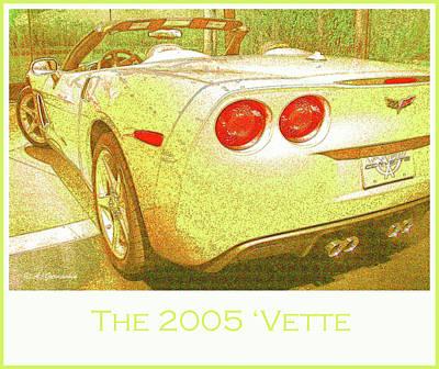 Digital Art - 2005 Corvette Automobile by A Gurmankin
