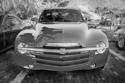 2006 Ssr Chevrolet Truck Painted Bw Art Print by Rich Franco