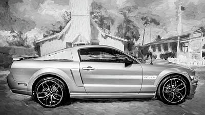 Photograph - 2009 Ford Shelby Mustang Gt Cs California Special Bw     by Rich Franco