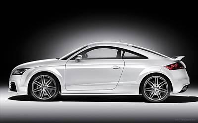 Audi Tt Digital Art - 2010 Audi Tt Rs Coupe 2  by Anne Pool
