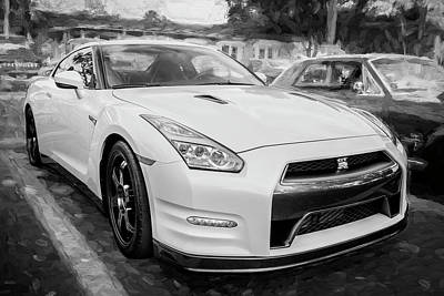 Photograph - 2013 Nissan Gt R Bw by Rich Franco