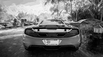 Photograph - 2014 Mclaren Mp4 12c Spider Bw C198 by Rich Franco