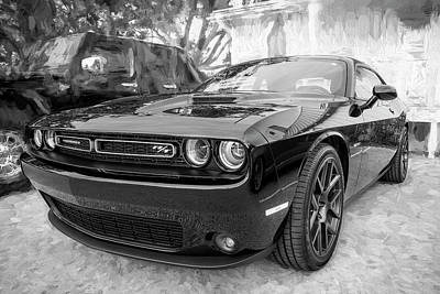 Photograph - 2016 Dodge Challenger R/t Bw by Rich Franco