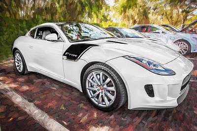 Jaguar F-type Photograph - 2016 Jaguar F Type Coupe Painted  by Rich Franco