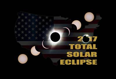 Corona Photograph - 2017 Total Solar Eclipse Across America by David Gn