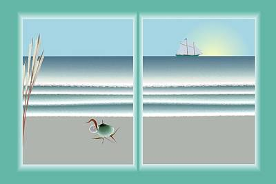 24x36 Window On The Water Art Print by Steve Smyth