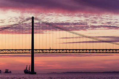 Photograph - 25 De Abril Bridge In Lisbon. by Pablo Lopez