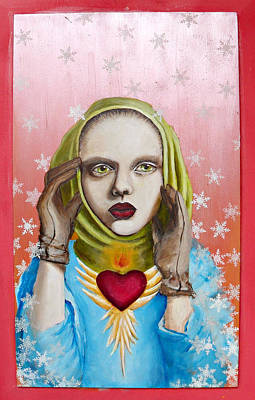 Immaculate Heart Painting - 28 Winters by Erin O
