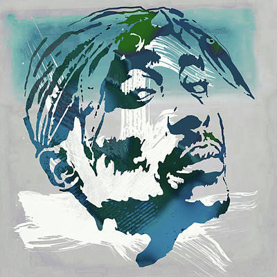 Rapper Digital Art - 2pac Tupac Shakur Pop Art Poster by Kim Wang