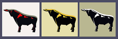 3 Bulls Art Print by Slade Roberts