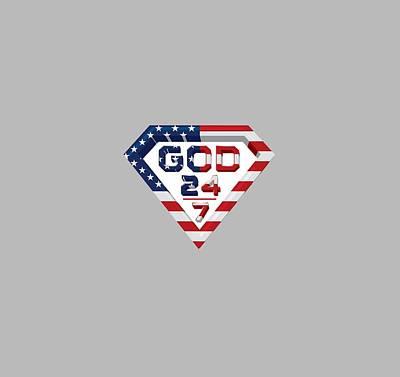 Taylor Swift Digital Art - 3 D Patriotic Design by Roshanda Prior