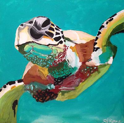 Painting - 30a Sea Turtle by Sarah LaRose Kane
