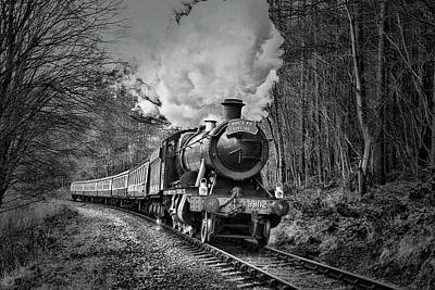 Photograph - 3802 Mince Pie Special On The Llangollen Line. by Andrew Munro