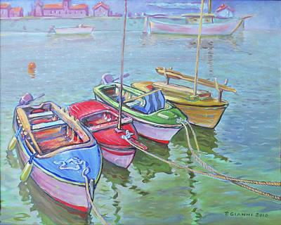 4 Fishing Boats Original by Philip Gianni