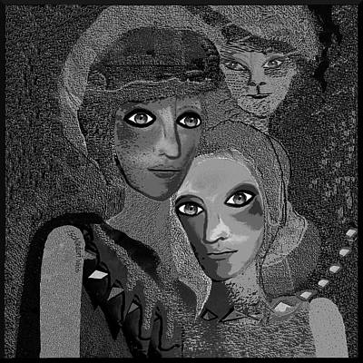 Digital Art - 451   To Lean On by Irmgard Schoendorf Welch