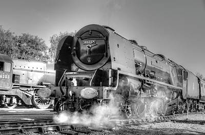 Photograph - 46233 Duchess Of Sutherland At Swanwick by David Birchall