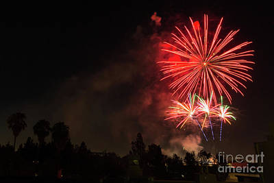 4th Of July Fireworks  Print by Eyal Aharon